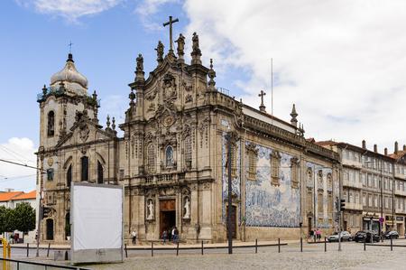 PORTO, PORTUGAL - JUN 21, 2014:  Igreja do Carmo in Porto, Portugal. It was built by Jose Figueiredo Seixas and opened in