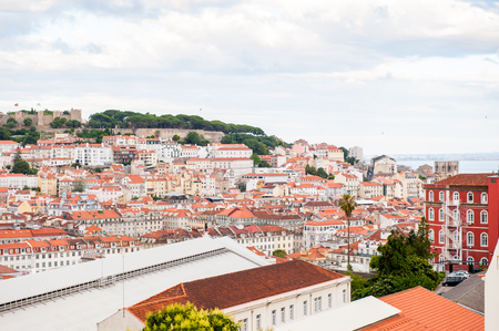 LISBON, PORTUGAL - JUN 20, 2014: Beautiful panoramic view of Lisbon, Portugal. Lisbon is the westernmost large city Europe and the seventh-most-visited city in Southern Europe Editorial