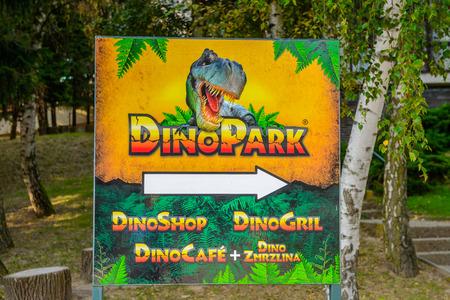 BRATISLAVA, SLOVAKIA - SEP 28, 2016: DinoPark, one of the popular attractions in Bratislava, Slovakia.