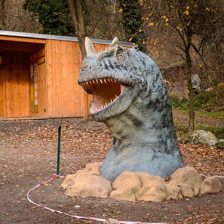 BRATISLAVA, SLOVAKIA - OCT 18, 2015: Fotosaurus in the DinoPark in Bratislava, Slovakia. One f the popular attections in Bratislava, Slovakia. Editorial