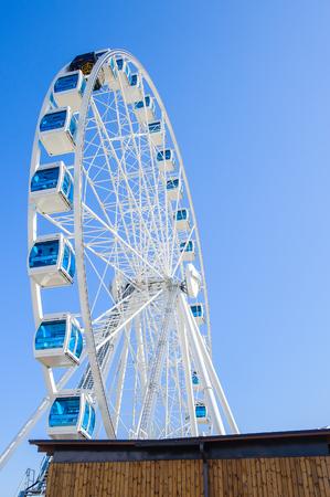 HELSINKI, FINLAND - JULY 26, 2014: Observation wheel in Helsinki, Finland. Helsinki was chosen to be the World Design Capital for 2012