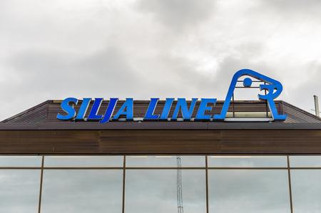 TURKU, FINLAND - JULY 22, 2013: Office of Silja Line cruisery  company in the Port of Turku, Finland, July 22, 2013. Port of Turku has a status of major Baltic Sea trading post