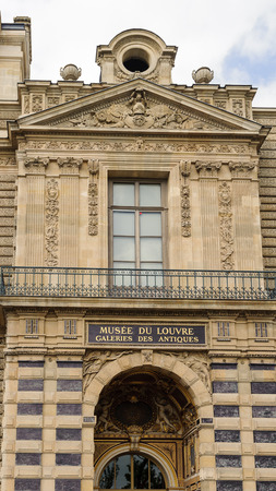 PARIS, FRANCE - JUN 17, 2014: Louvre Museum, one of the largest museums in the world. It has more than 35000 objects and it's one of the most visited places in Paris, France Editorial