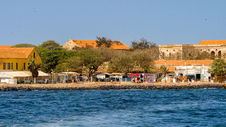 GOREE, SENEGAL - APR 28, 2017: Goree Island,  UNESCO World Heritage Site. Former slaves island Editorial