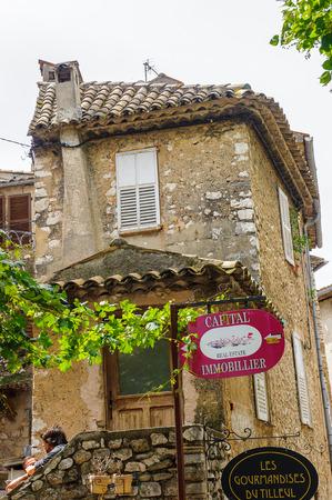 SAINT-PAUL-DE-VENCE, FRANCE - JUN 25, 2014: Architecture of Saint Paul de Vence, one of the oldest towns of the Frence Riviera. Town of painters and galleries