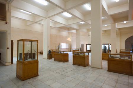 KHARGA OASIS, EGYPT - NOV 27, 2014: Interior of the Kharga Cultural Heritage Museum, Kharga, Egypt. One of the main sites of the Kharga Oasis