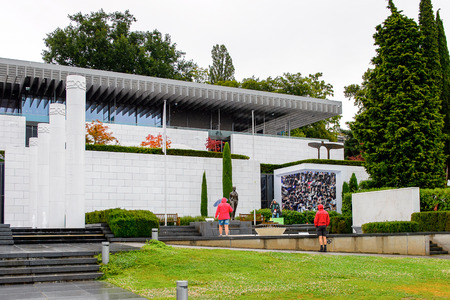 LAUSANNE, SWITZERLAND - AUGUST 8, 2017: Olympic Museum  in Lausanne, Switzerland