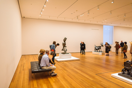 NEW YORK, USA - OCT 8, 2015: Museum of Modern Art (MoMA), an art museum, Midtown Manhattan, New York. It was established on November 7, 1929 Éditoriale