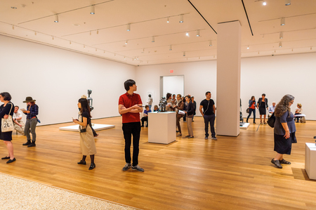 NEW YORK, USA - OCT 8, 2015: Museum of Modern Art (MoMA), an art museum, Midtown Manhattan, New York. It was established on November 7, 1929 Editorial