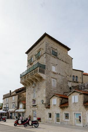 TROGIR, CROATIA - AUG 22, 2014: Architecture of the Old Town of Trogir, Croatia. UNESCO World heritage site