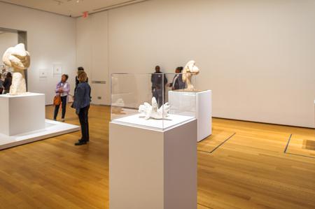 NEW YORK, USA - OCT 8, 2015: Museum of Modern Art (MoMA), an art museum, Midtown Manhattan, New York. It was established on November 7, 1929 에디토리얼
