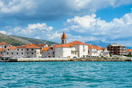 DALMATIA, REGION OF SPLIT, CROATIA - AUG 20, 2014: Dalmatia, the Adriatic coast. Coast of the Adriatic Sea in Dalmatia became a popular destination for millions of tourists