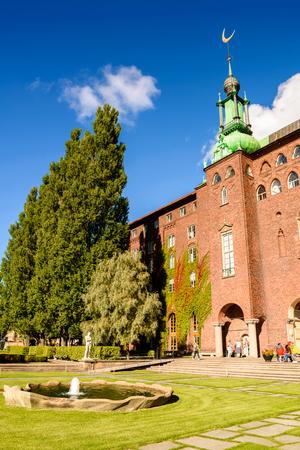 STOCKHOLM, SWEDEN - SEP 17, 2016: Stockholm City Hall, Sweden. It is the venue of the Nobel Prize banquet