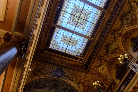 MONTE CARLO, MONACO - AUG 13, 2017: Hall of the Monte Carlo Casino, popular gambling complex opened in 1863