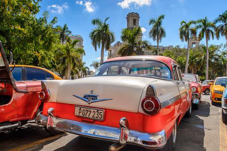 HAVANA, CUBA - SEP 5, 2017: Classic old car in Havana, the capital of Cuba Editorial