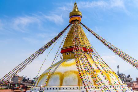 Buddhist stupa of Boudhanath, Kathmandu, Nepal, Asia.