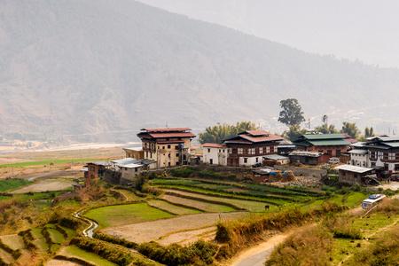 Nature of Bhutan Stock Photo