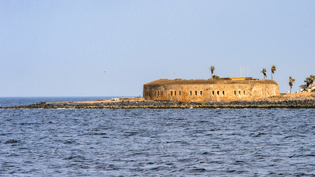 Fort of the Goree Island. Former slaves island Stock Photo
