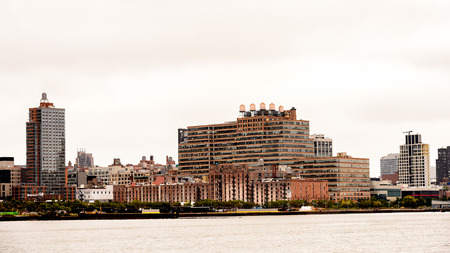 Architecture of New York on a cloudy day, NY, United Sates of America