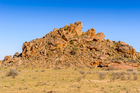 Rocks in the Desert of Namibia Stock Photo