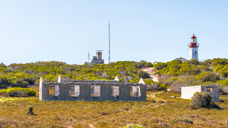 Robben island, an island in Table Bay, west of the coast of Bloubergstrand, Cape Town, South Africa.