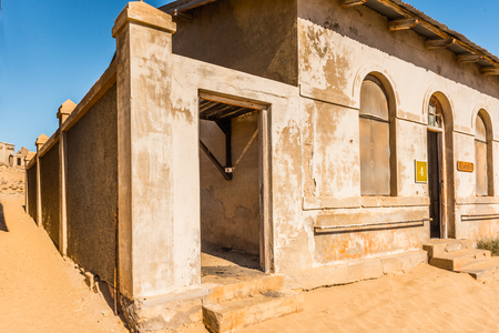 House in a abandoned town Kolmanskop in the Namib desert