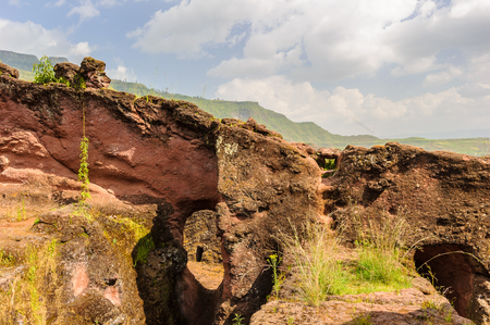 Nature of Lalibela, one of Ethiopias holiest cities in Africa. Famous by the monolitic churches