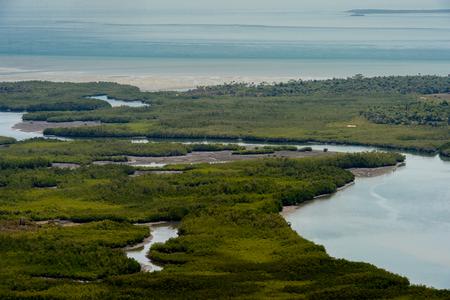 Panoramic view of Bissagos Archipelago (Bijagos), Guinea Bissau.