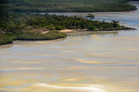 Aerial view of the Bissagos Archipelago (Bijagos), Guinea Bissau.