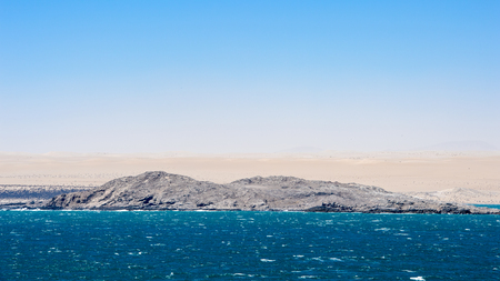 Spectacular view of the Shark Island near Namibia
