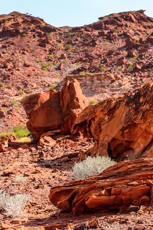Rocks of Twyfelfontein, Namibia Stock Photo
