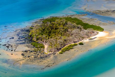 Beautiful aerial view of the small island, Bissagos Archipelago (Bijagos), Guinea Bissau. Stock Photo