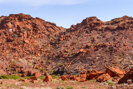 Rocks and stones of Twyfelfontein, Namibia