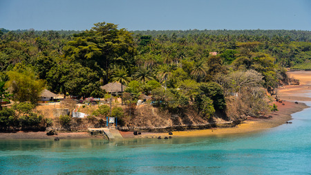 Architecture of the Bubaque Island, the Bissagos Archipelago (Bijagos), Guinea Bissau.
