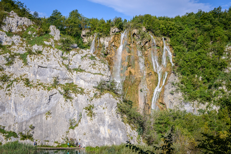 Beautiful nature of the Plitvice lakes area in Croatia Stock Photo
