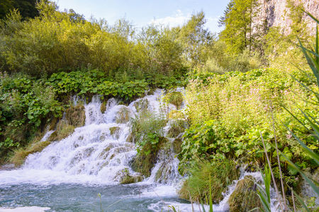 Water falls of the Plitvice lakes in Croatia