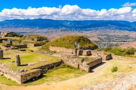 Objects of Monte Alban, a large pre-Columbian archaeological site, Santa Cruz Xoxocotlan Municipality, Oaxaca State.
