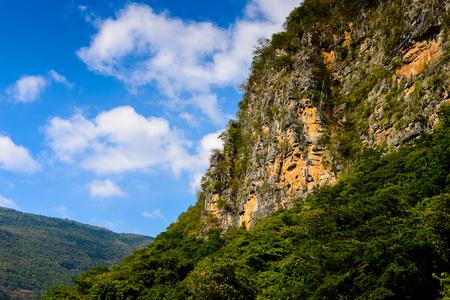Rocks of Sumidero Canyon National Park, Chipas, Mexico. Stock Photo