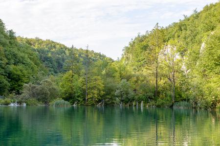 Plitvice lakes area in Croatia
