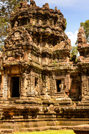Chau Say Tevoda, one of a pair of Hindu temples built during the reign of Suryavarman II at Angkor, Cambodia