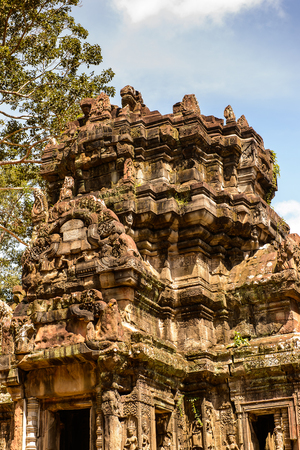 Chau Say Tevoda, one of a pair of Hindu temples built during the reign of Suryavarman II at Angkor, Cambodia Stok Fotoğraf - 107849728