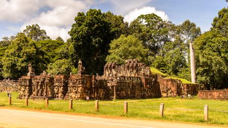 Elephant terace of Angkor, Cambodia Stok Fotoğraf