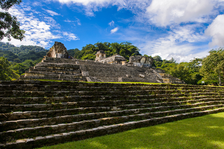 Palenque, was a pre-Columbian Maya civilization of Mesoamerica. Known as Lakamha (Big Water). UNESCO World Heritage