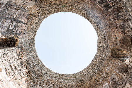Sky through the Architecture of the Historical Complex of Split, Croatia