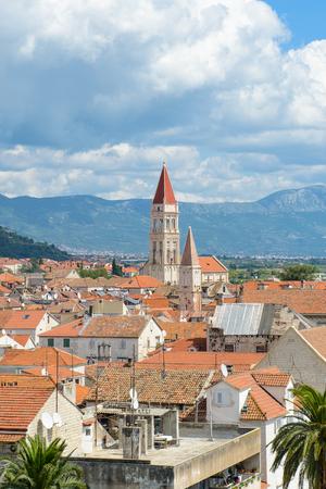 Panoramic view of Historic City of Trogir, Croatia. UNESCO WOrld Heritage Site Stock Photo