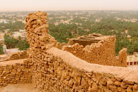 Walls in the El Meniaa's castle, El Golea oasis, Ghardaia Province, Algeria.