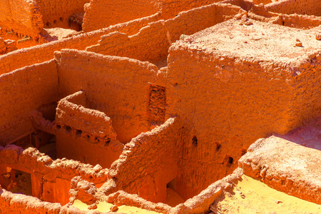 Aerial view of the ruins of Timimoun, Adrar Province,  Algeria.
