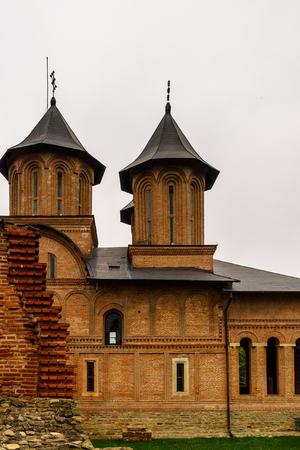 Orthodox church of the Monumental complex Curtea Domneasca, Targoviste, Romania 写真素材