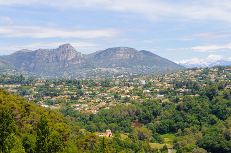 Beautiful nature of the hills of the southern France