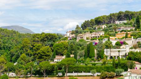 Beautiful houses nearby Saint Paul de Vence, France 스톡 콘텐츠